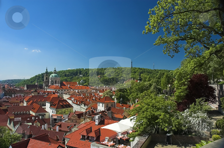 Prague rooftops stock photo, View of Prague from Prague Castle by Pierre Landry