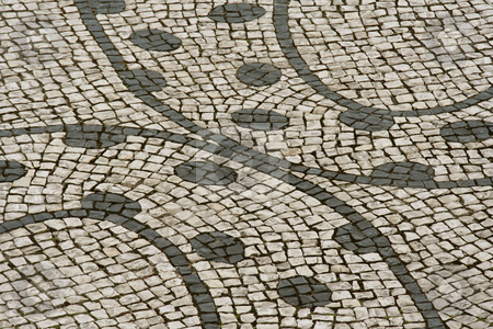 Graphical circular street pavement stock photo,  by Gautier Willaume