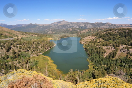 Fall Begins In The Sierras stock photo, Fall colors start to show at Red Lake in the California Sierra Nevada mountains. by Lynn Bendickson