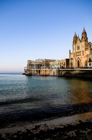 St. Julians Bay stock photo, St Julians Bay in Malta by Tyler Olson