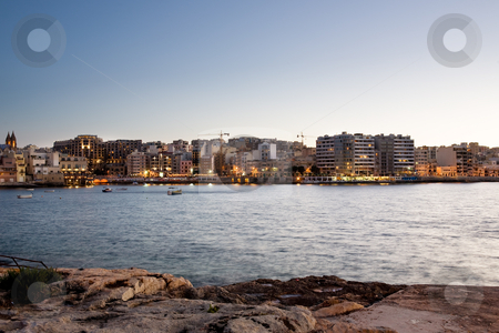 Malta stock photo, Saint Julians Bay in Malta by Tyler Olson