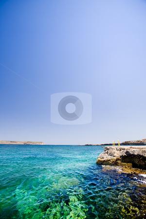 Malta Ocean stock photo, A swimming hole in Malta by Tyler Olson