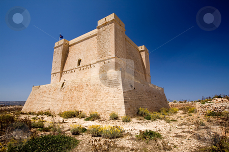Saint Marija's Tower stock photo, St marija tower on comino island, Malta by Tyler Olson