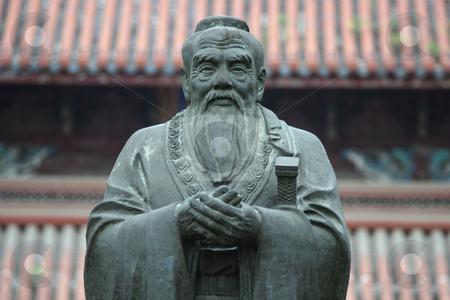 Confucius Statue stock photo, Confucius statue in Confucius Temple in Suzhou (China) by Gautier Willaume