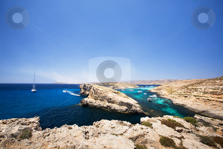 Comino and Gozo Island stock photo, Comino and Gozo island in malta by Tyler Olson