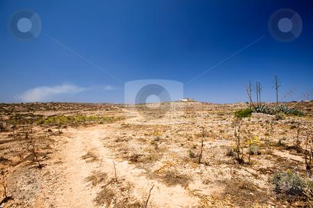 Desert stock photo, A very dry desert landscape, comino malta by Tyler Olson