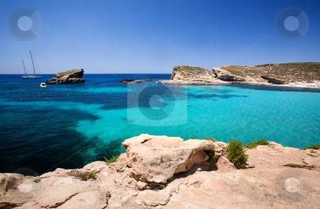 Blue Lagoon Malta stock photo, Blue lagoon in Malta on the island of Comino by Tyler Olson