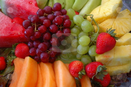 Fruit plate stock photo, Shot of a pl;ate of fruit by Richard Sheehan