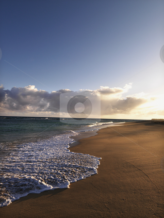 Coastal Maui Hawaii stock photo, The beach at dusk in Maui, Hawaii. by Iofoto Images