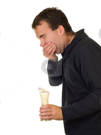 Uncontrollable Sneezing stock photo, A man holding a pepper shaker and sneezing by Richard Nelson