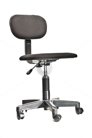 Office chair isolated  stock photo, Contemporary office chair isolated on white background by Johan Knelsen