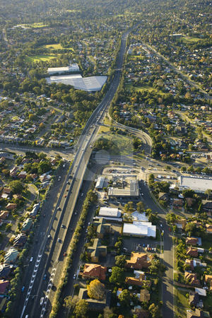 Metroad, Australia. stock photo, Aerial view of Metroad 6 in Ryde, Australia. by Iofoto Images