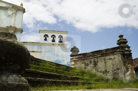 Steps to El Convento in Granada Nicaragua stock photo, Stone steps to El Convento Cathedral in Granada Nicaragua by Scott Griessel