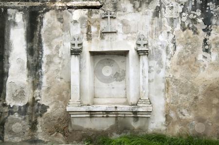 Wall niche in Granada Nicaragua stock photo, Niche in an old wall near El Convento of Granada Nicaragua by Scott Griessel
