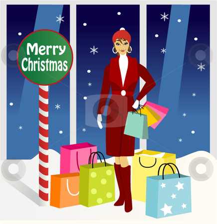 Merry Christmas sale stock vector clipart,  by R. B.