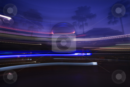 Motion blur landscape. stock photo, Motion blur of lights creating abstract image. by Iofoto Images
