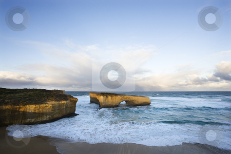 Coastal rock formation. stock photo, London Arch formation on coastline of Great Ocean Road, Australia. by Iofoto Images