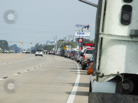 Waiting for Gas stock photo, People patiently waited in long lines at the Gas Pump for up to 3 hours after Hurricane Ike by Marburg