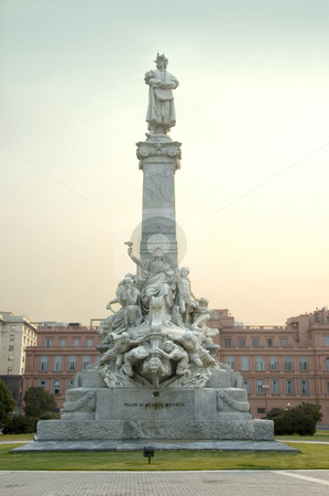 Statue behind the Casa Rosada stock photo, The statue which stands in the gardens of the Casa Rosada in Buenos Aires, Argentina. by Lee Torrens