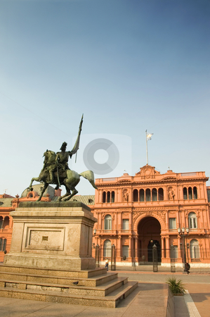 Casa Rosada, Buenos Aires, Argentina stock photo, The Casa Rosada (Pink House), the presidential palace of Argentina, located in central Buenos Aires by Lee Torrens