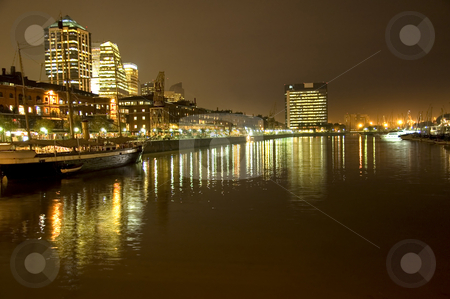 Puerto Madero at Night stock photo, The night time view of Puerto Madero in central Buenos Aires, Argentina by Lee Torrens