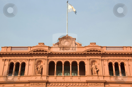 Famous balcony of the Casa Rosada in Argentina stock photo, The famous balcony of the Casa Rosada (Pink House), the presidential palace of Argentina, located in central Buenos Aires. by Lee Torrens