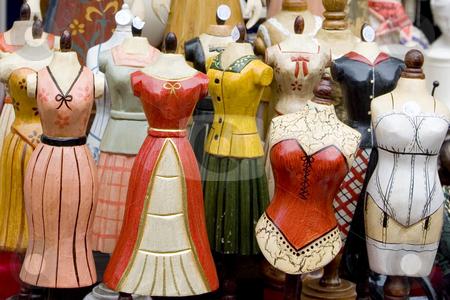 Decorative Mannequin stock photo, Miniature decorative female mannequins by Lee Torrens