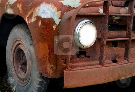 Rusty stock photo, Decaying old rusty truck weathered by age by Jack Schiffer