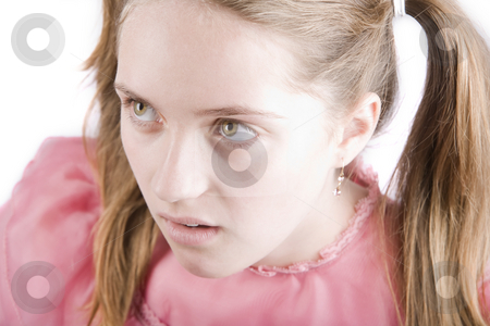 Bratty Young Girl stock photo, Bratty young girl with a disgusted expression on her face by Scott Griessel