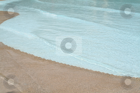 Wave pool stock photo, Wave pool with blue tiles wavey water by Kheng Guan Toh
