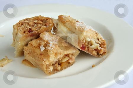 Stuffed pastry stock photo, Fancy pastry desserts stuffed with nuts and fruit by Kheng Guan Toh