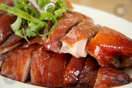 Roast duck slices stock photo, Slices of roast duck traditional chinese cuisine by Kheng Guan Toh