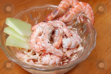 Shrimp cocktail stock photo, Shrimp cocktail prawn seafood salad in bowl by Kheng Guan Toh