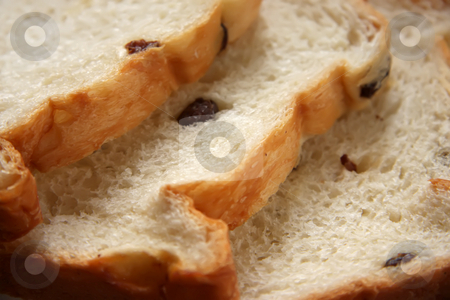 Raisin bread stock photo, Slices of raisin bread by Kheng Guan Toh