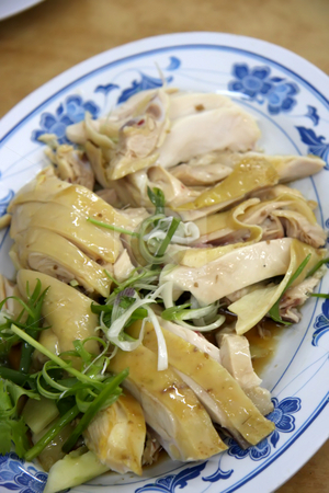 Sliced chicken  stock photo, Whole fresh cooked prawns in shell unpeeled by Kheng Guan Toh