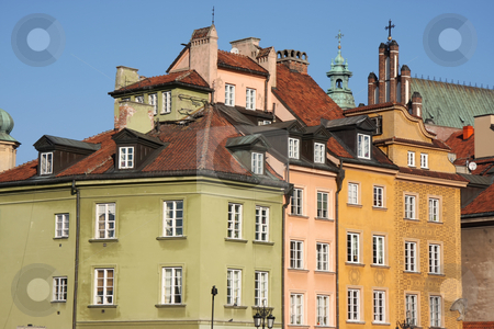 Warsaw old town stock photo, Colorful picturesque traditional buildings in Warsaw old town by Kheng Guan Toh