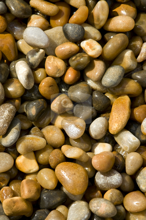 Close up of beach pebbles