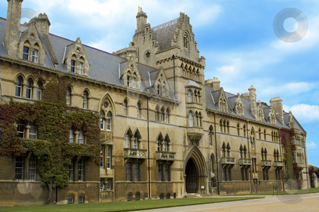 Christchurch Univeristy  stock photo, Christchurch University's facade in Oxford, England by Lee Torrens