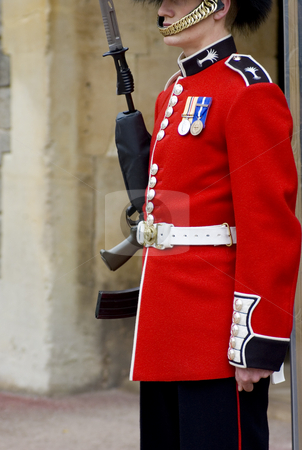 Queen's Guard stock photo, Cloe up of a British guard (England) by Lee Torrens