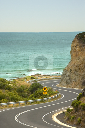 The Great Ocean Road - Australia's recreational drive stock photo, A windy stretch of the Great Ocean Road, God's gift to recreational drivers. by Lee Torrens