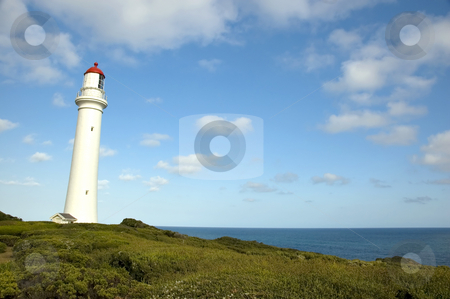 Split Point Lighthouse - Australia stock photo, The Split Point Lighthouse at Aireys Inlet in Australia, on the Great Ocean Road by Lee Torrens