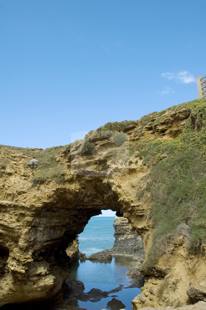 The Grotto - Rock formation on the Great Ocean Road, Australia stock photo, The Grotto is a natural rock formation created by erosion. It is located along the Great Ocean Road in Australia. by Lee Torrens