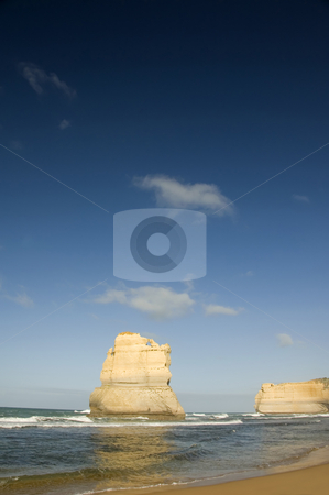 The Twelve Apostles stock photo, View of Australia's natural wonder, The Twelve Apostles, as seen from the beach. by Lee Torrens