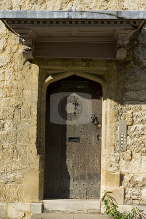 Old Door stock photo, An old door in an old  gothic town by Lee Torrens