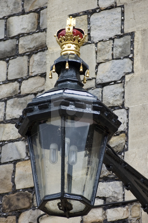 Royal Lamp stock photo, Street lamp at Windsor castle (England) by Lee Torrens
