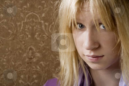 Pretty young girl  stock photo, Close up portrait of pretty teenage girl by Scott Griessel