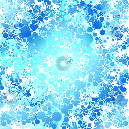 Water bubble stock photo, Abstract blue and green background made out of circles by Michael Travers