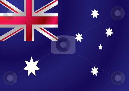 Australian flag ripple stock vector clipart, Australian flag with a wind ripple make an ideal background by Michael Travers