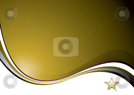 Nat gold wave stock vector clipart, Golden background with a flowing design and space for a logo by Michael Travers