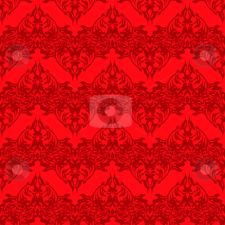 Blood red repeat stock vector clipart, Blood red abstract background pattern that seamlessly repeats by Michael Travers